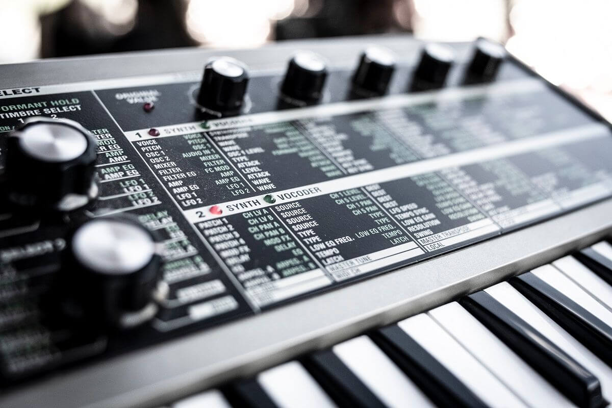 valg af klaver eller keyboard