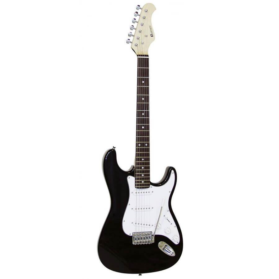 DiMavery ST-203 billig El-Guitar sort