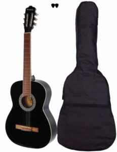Sant Guitars CL-50L-BK spansk venstrehånds-guitar sort