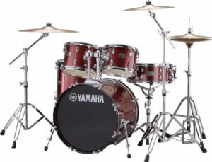 Yamaha Rydeen RDP0F5 BGG + HW680W + Paiste 101 komplet trommesæt burgandy glitter