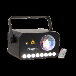 Ibiza laser + LED lyseffekt