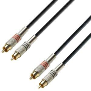 RCA Phono Kabel 2 x RCA Han til 2 x RCA Han fra Adam Hall
