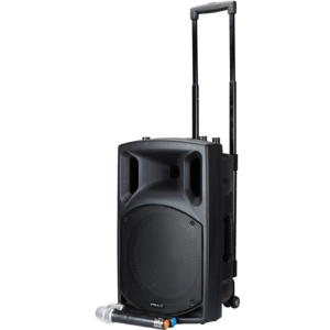 "BST 12"" batteridrevet højttaler m. trådløs mikrofon aktive højtalere"