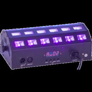 Ibiza LED Lysprojektor med UV og hvid DMX