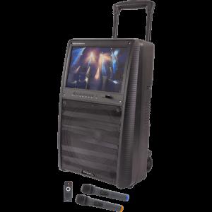 Karaoke anlæg med TFT skærm, Bluetooth og mikrofoner