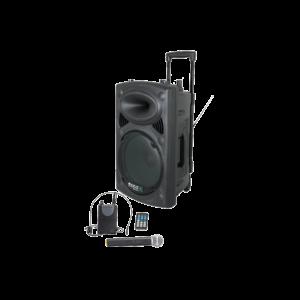 "Ibiza 12"" Transportabel Højttaler med UHF Mikrofoner"