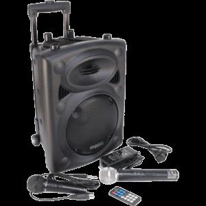 "8"" Karaoke højttaler m. trådløs mikrofon og Bluetooth"