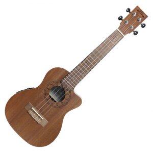 Santana Concert Ukulele Cutaway - indbygget pickup og mikrofon