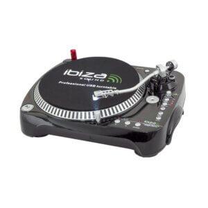 Ibiza pladespiller med USB / SD-kort optager