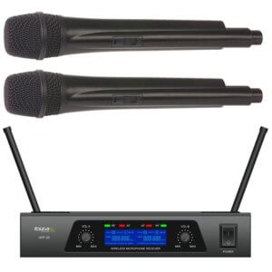 Ibiza 2 kanals trådløst mikrofonsystem