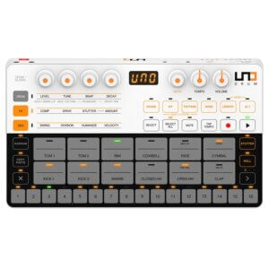 scheme unodrum front white gray synthesizer