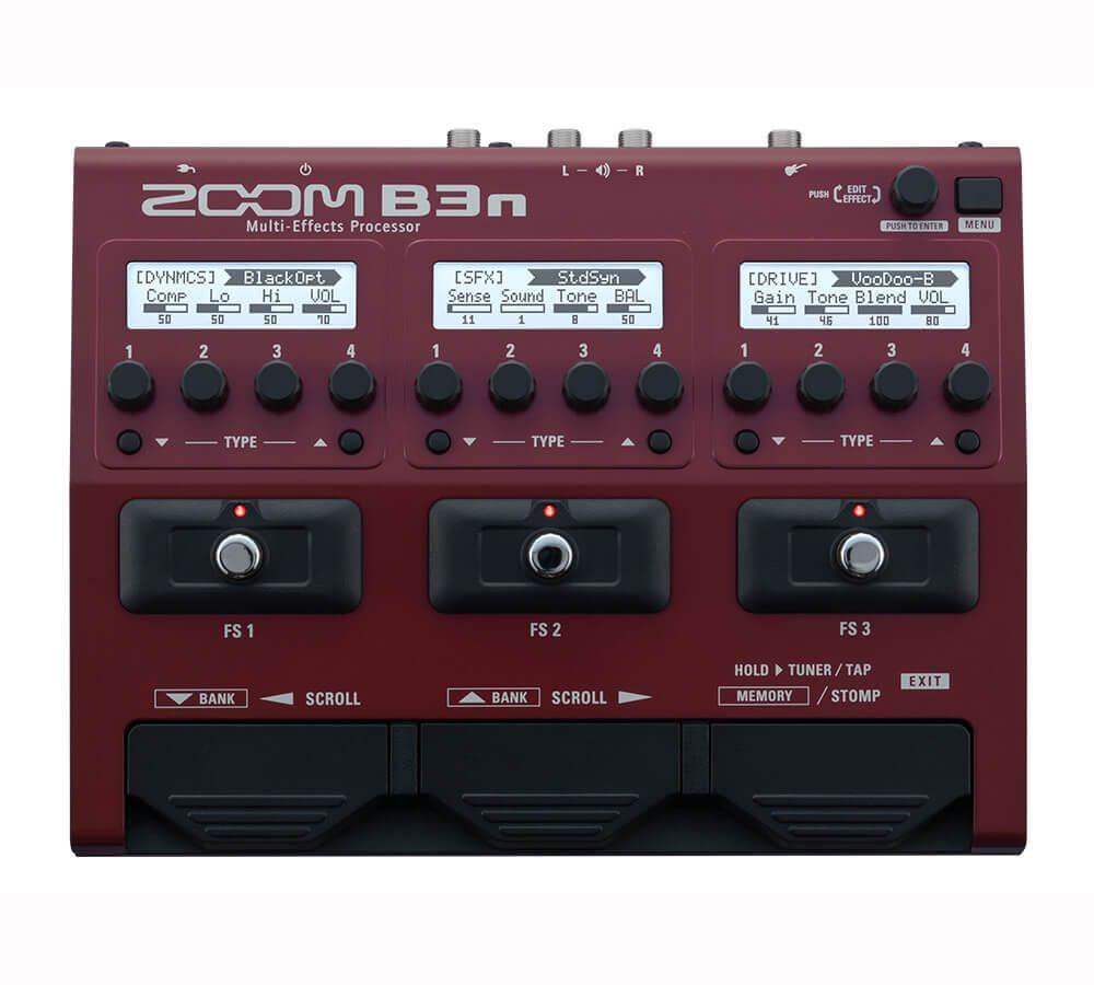 zm zoom b3n bas multi effekt board guitarpedal