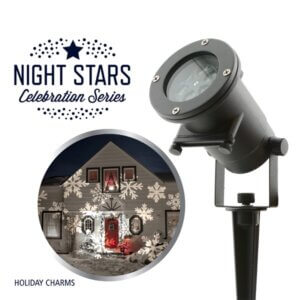 Night Stars Laserlys med årstidernes monstre