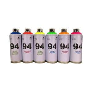 UV spraymaling 6 x 400 ml.
