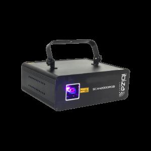 Ibiza RGB Laser 2000MW med DMX & Ilda