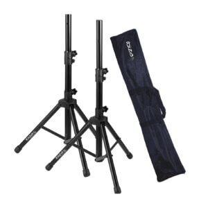 2 x Højttalerstativer med taske (30kg/1,20m)