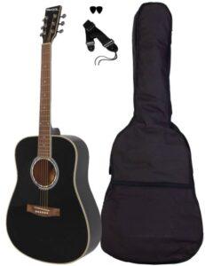 Sant Guitars-80L-BK venstrehånds western guitar sort